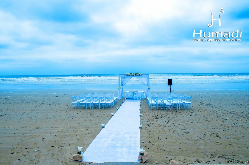 decoracion boda en la playa Ecuador