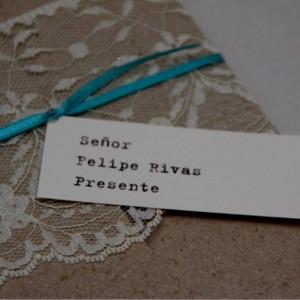 invitacion de boda estilo vintage ecuador