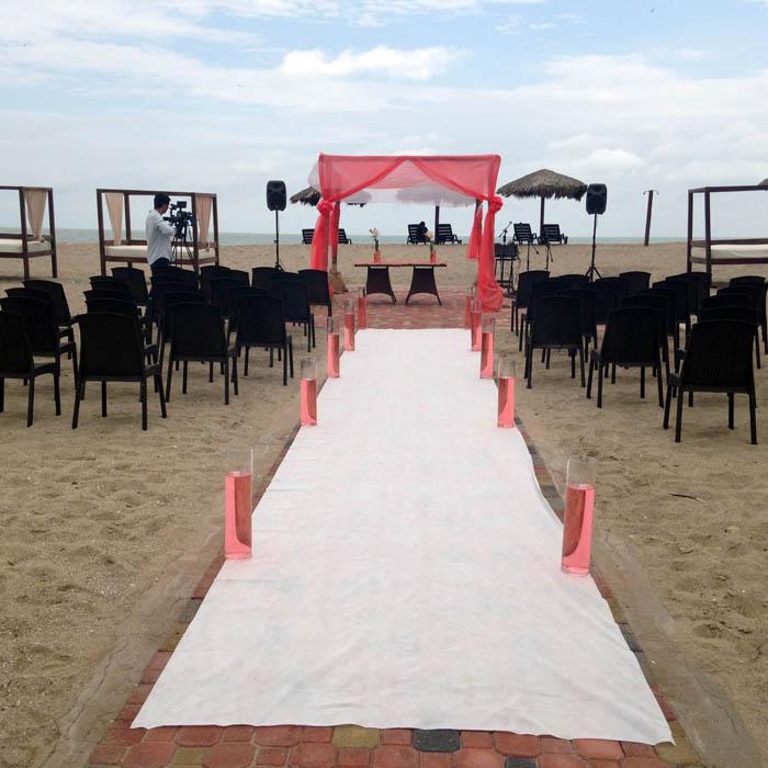 colores boda en la playa