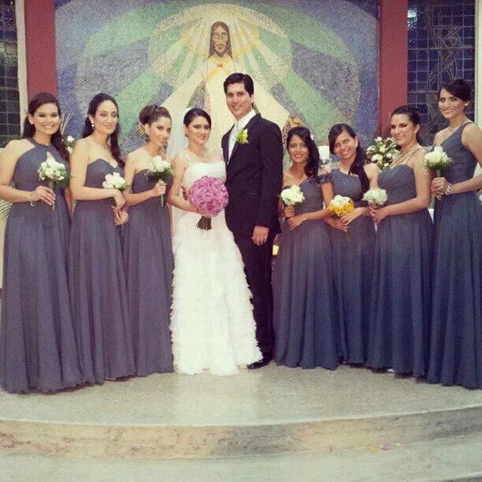 Encantador Esmeralda Vestidos De Damas De Honor Foto - Ideas de ...